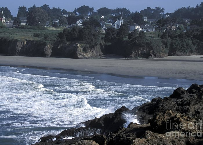 California Greeting Card featuring the photograph Mendocino by Stan and Anne Foster