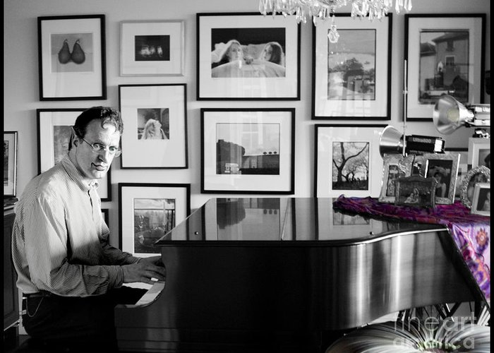 Piano Playing Greeting Card featuring the photograph Mephistos Waltz by Madeline Ellis