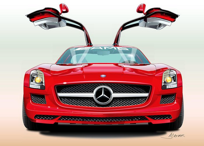High-performance Luxury Car Greeting Cards