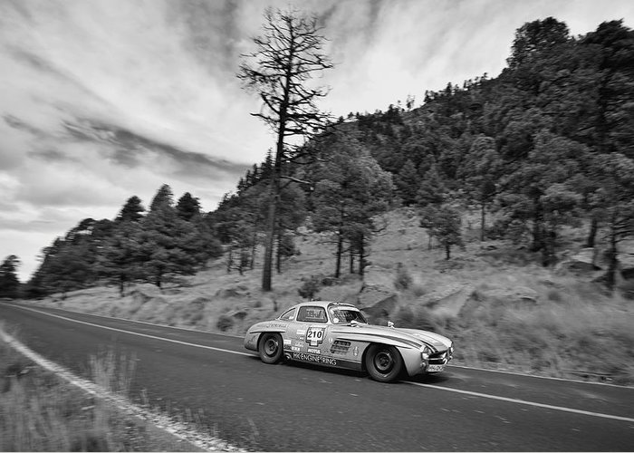 Mercedes Benz Greeting Card featuring the photograph Mercedes Benz 300sl La Carrera Panamericana 2015 by Rene Ranachilanga Ortega