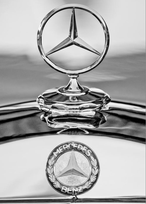 Mercedes-benz Hood Ornament Greeting Card featuring the photograph Mercedes Benz Hood Ornament 2 by Jill Reger