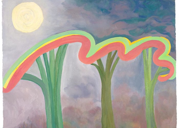 Mercy Greeting Card featuring the painting Mercy Nights by Nancy Brockett