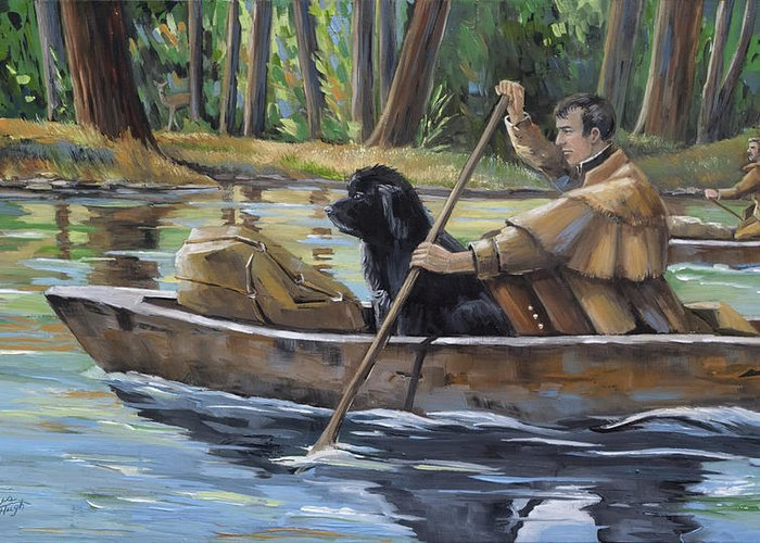 Lewis Meriwether Greeting Card featuring the painting Meriwether by Paula McHugh