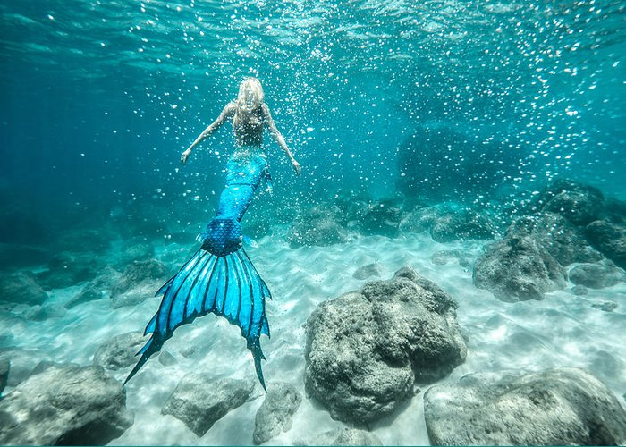Hawaii Greeting Card featuring the photograph Mermaid Blues by Leonardo Dale