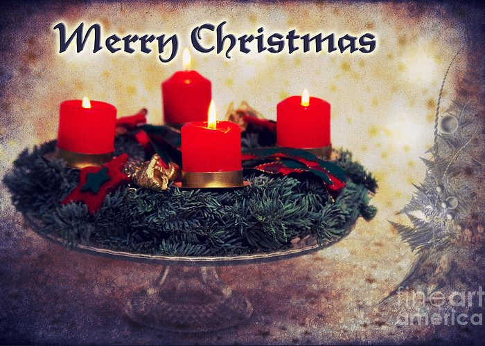 Christmas Greeting Card featuring the photograph Merry Christmas by Angela Doelling AD DESIGN Photo and PhotoArt
