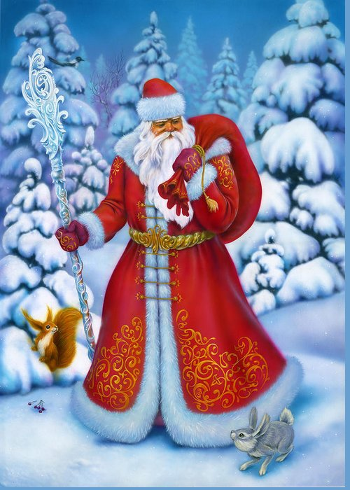 Beautiful Greeting Card featuring the painting Merry Christmas by Eldar Zakirov