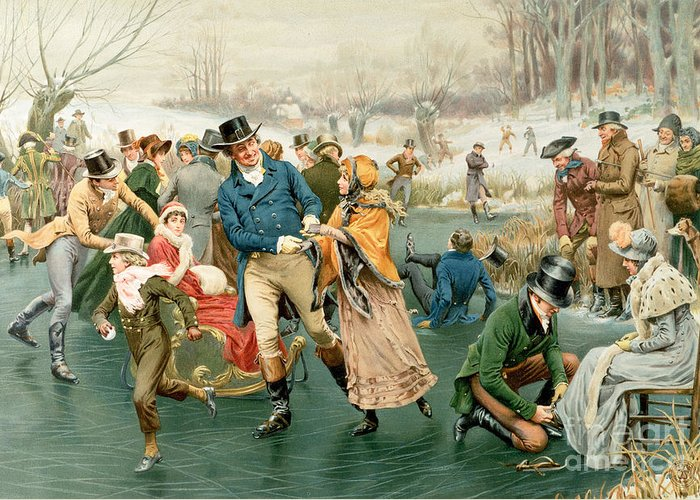 Merry Greeting Card featuring the painting Merry Christmas by Frank Dadd