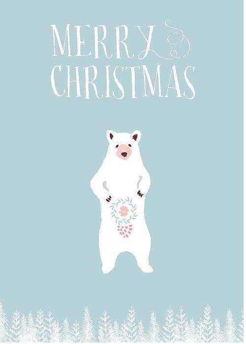 Ducks. Christmas Card Greeting Cards