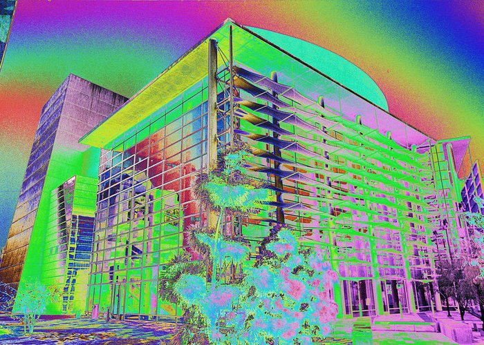 Psychedelic Greeting Card featuring the photograph Mesa Art Center by Richard Henne