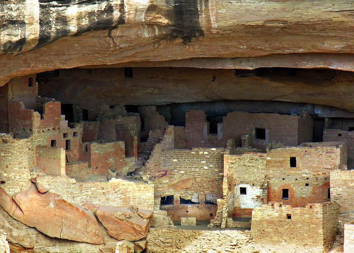 Americana Greeting Card featuring the photograph Mesa Verde by Marilyn Hunt