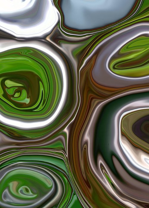 Abstract Greeting Card featuring the photograph Metal Abstract by Linnea Tober