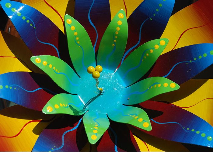 Sculpture Greeting Card featuring the photograph Metallic Flora by William Thomas