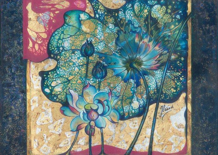 Rebirth Greeting Card featuring the painting Metamorphosis by Anna Ewa Miarczynska