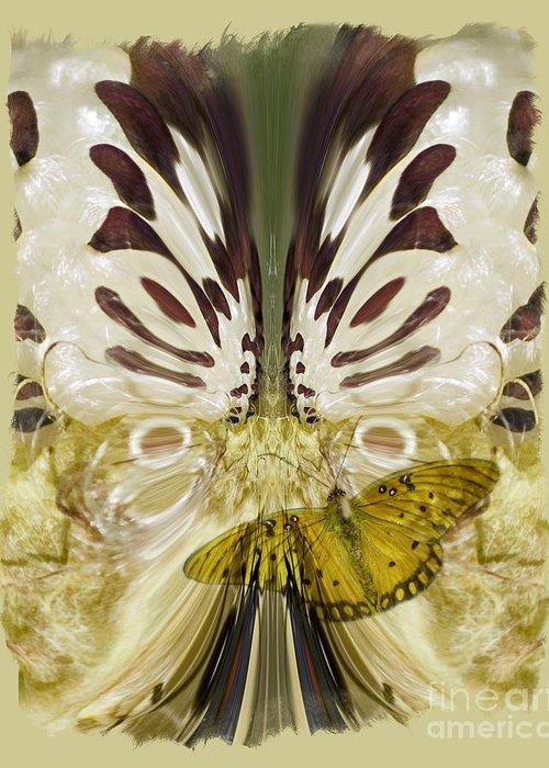 Butterfly Greeting Card featuring the digital art Metamorphosis by Chuck Brittenham