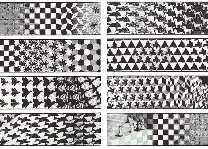 Metamorphosis greeting card for sale by mc escher for Escher metamorfosi