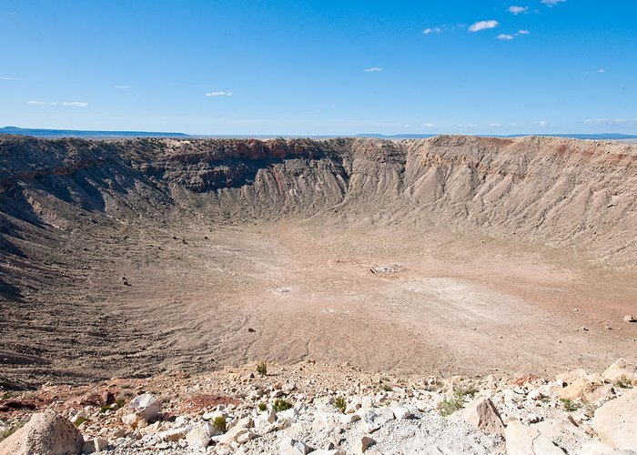 Meteor Greeting Card featuring the photograph Meteor Crater Az by Tom Dowd