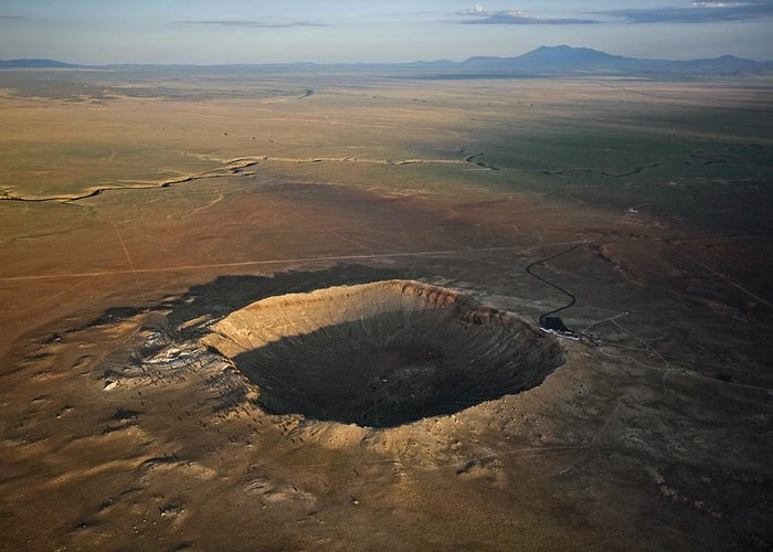 Outdoors Greeting Card featuring the photograph Meteor Crater Is The Best Preserved by Stephen Alvarez