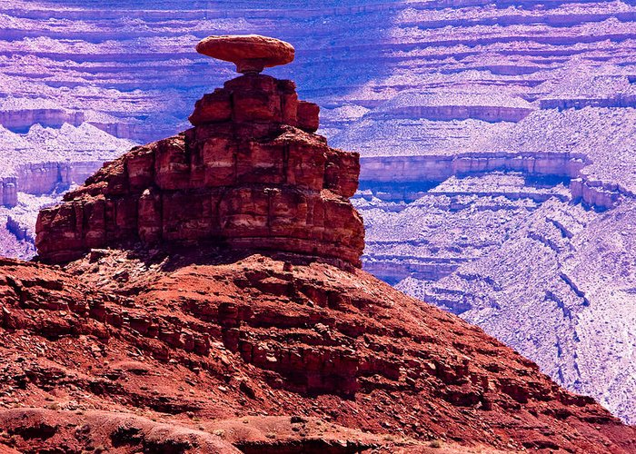 Mexican Hat Greeting Card featuring the photograph Mexican Hat by James BO Insogna