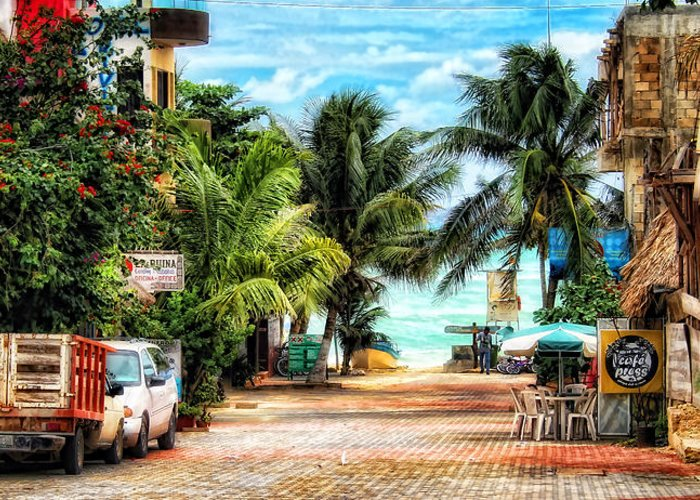 Mexico Greeting Card featuring the photograph Mexican Side Street by Gina Cormier