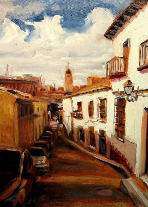Landscape Paintings Greeting Card featuring the painting Mexico by Brian Simons