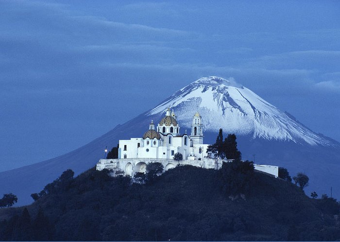 Nobody Greeting Card featuring the photograph Mexico, Cholula, Catholic Church by Keenpress