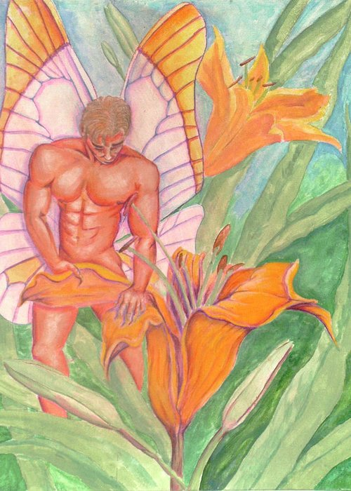 Mesmerize Greeting Card featuring the painting Mezmerize by Bobby Jones