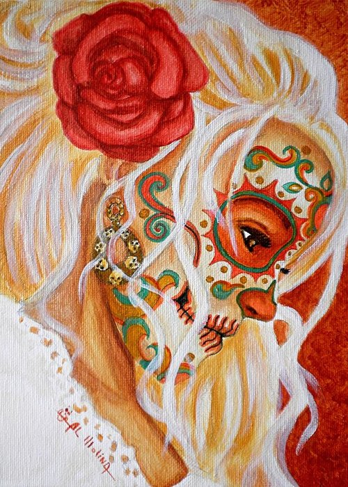 Painted Faces Greeting Cards