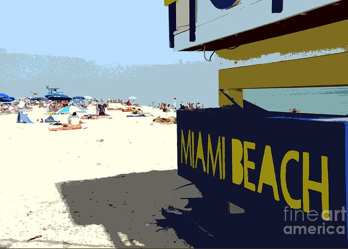 Miami Beach Florida Greeting Card featuring the photograph Miami Beach Work Number 1 by David Lee Thompson