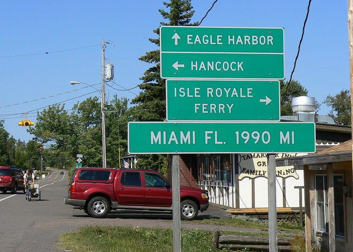 Road Sign Greeting Card featuring the photograph Miami Florida 1990 Miles Us41 by Ron Hayes