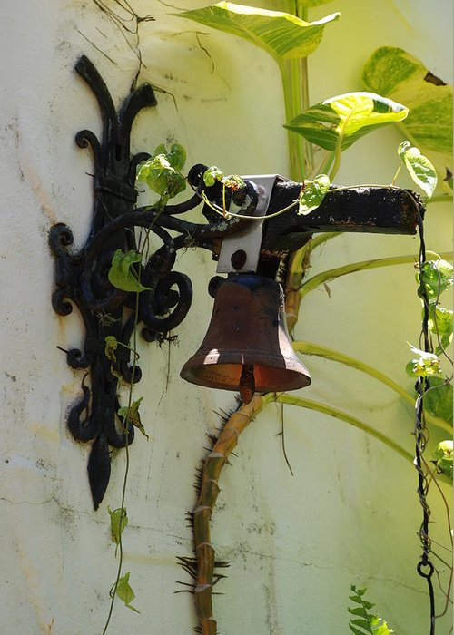 Architecture Greeting Card featuring the photograph Miami Monastery Bell by Rob Hans