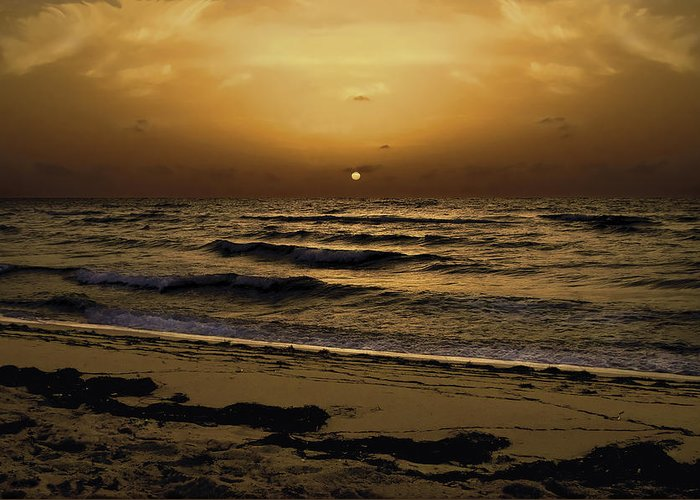 Miami Greeting Card featuring the photograph Miami Sunrise by Gary Dean Mercer Clark