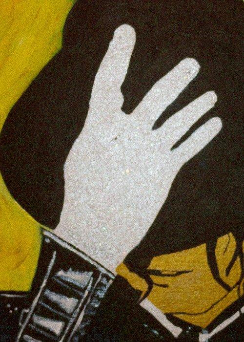 Michael Jackson Greeting Card featuring the painting Michael Jackson by Estelle BRETON-MAYA