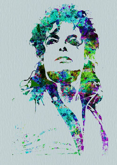 Michael Jackson Greeting Card featuring the painting Michael Jackson by Naxart Studio