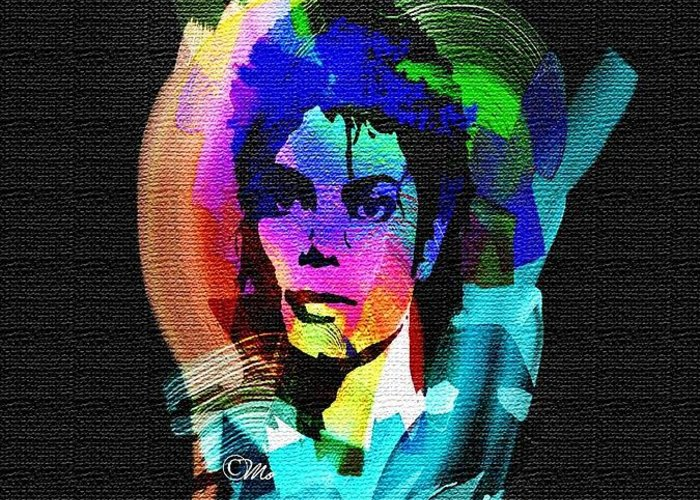 Michael Jackson Greeting Card featuring the digital art Michael Jackson by Mo T
