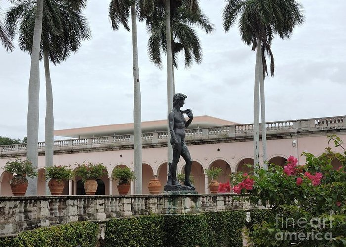 Statue Greeting Card featuring the photograph Michelangelo's David by Beth Williams