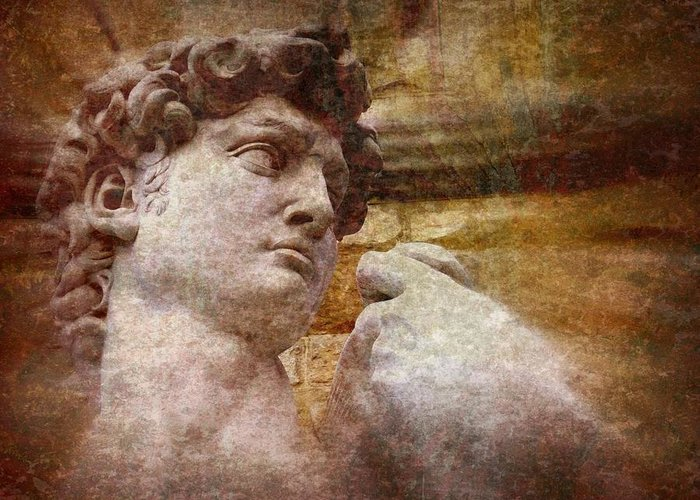 David Greeting Card featuring the photograph Michelangelo's David by Jen White