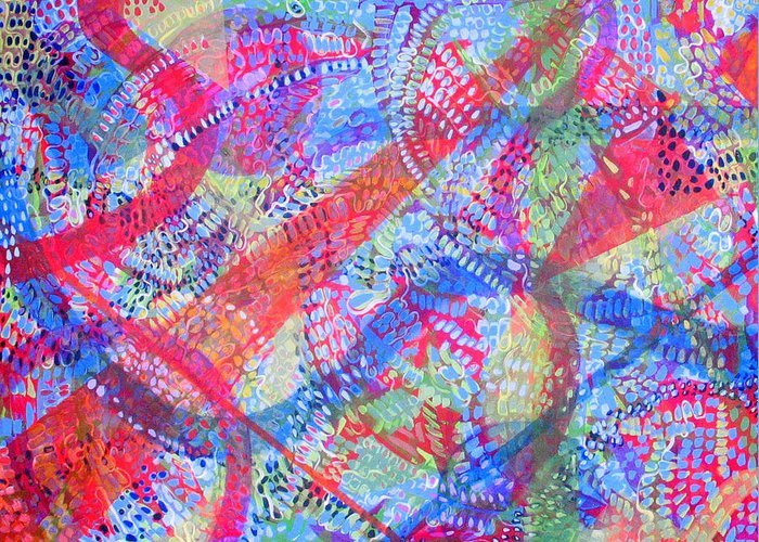 Dots Greeting Card featuring the painting Microcosm II by Rollin Kocsis