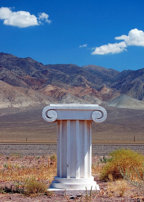 Columns Greeting Card featuring the photograph Middle Of Nowhere by Heather S Huston