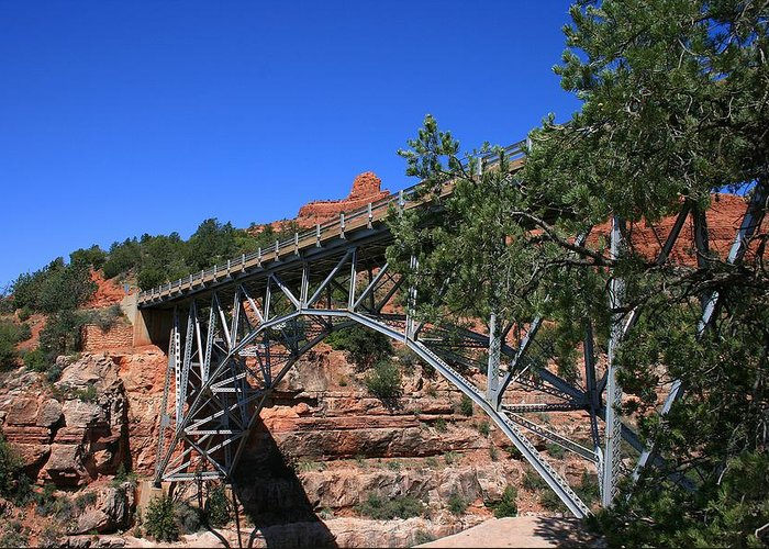 Sedona Greeting Card featuring the photograph Midgley Bridge by Gary Kaylor