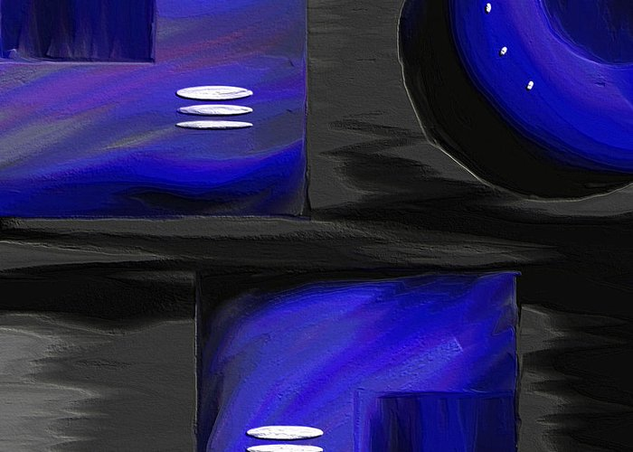 Abstract Art Greeting Card featuring the painting Midnight by Ely Arsha