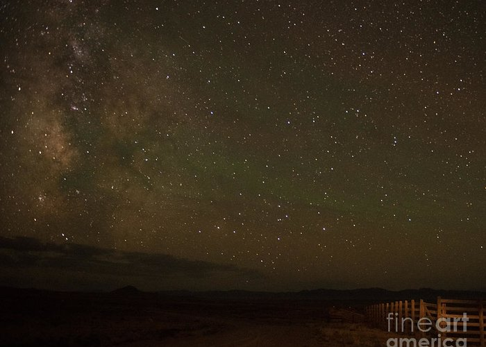 Midnight Greeting Card featuring the photograph Midnight Road to the Milky Way by Dennis Hammer