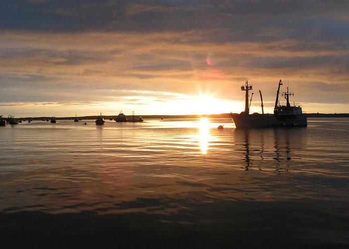 Bristol Bay Greeting Card featuring the photograph Midnight Sun by Necia Nash