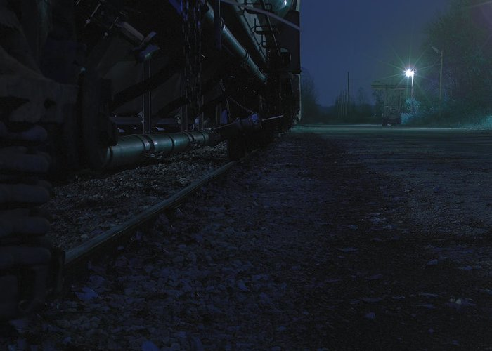 Midnight Greeting Card featuring the photograph Midnight Train 2 by Scott Hovind