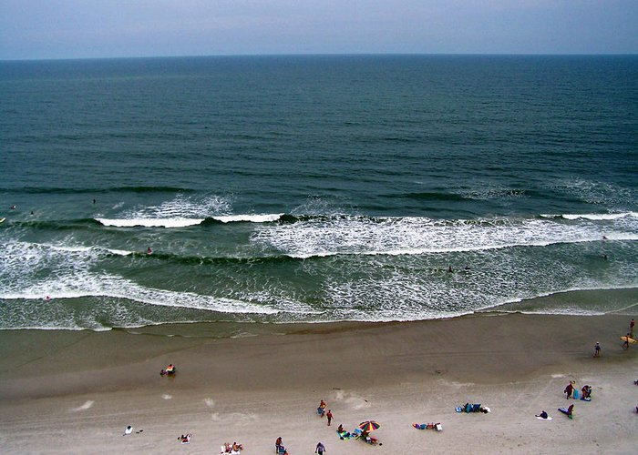 Ocean View Greeting Card featuring the photograph Mighty Ocean Aerial View by Patricia Taylor