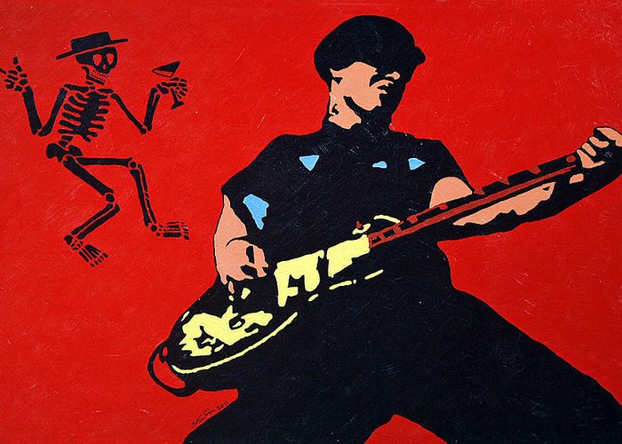 Social-d Greeting Card featuring the painting Mike Ness by Steven Sloan