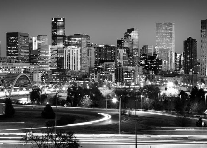 Denver Greeting Card featuring the photograph Mile High Skyline by Kevin Munro