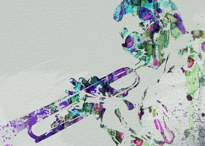 Miles Davis Greeting Card featuring the painting Miles Davis by Naxart Studio