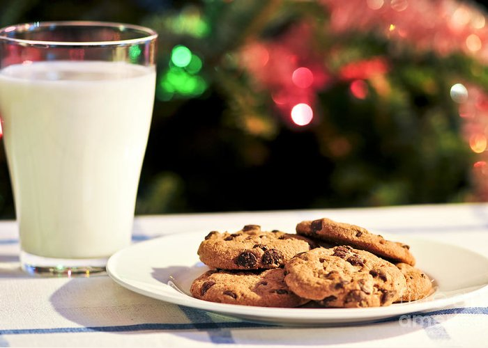 Cookies Greeting Card featuring the photograph Milk And Cookies For Santa by Elena Elisseeva