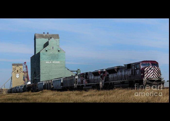 Alberta Greeting Card featuring the photograph Milk River by Brad Allen Fine Art