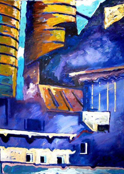 Mill Greeting Card featuring the painting Mill Viii by Charlie Spear